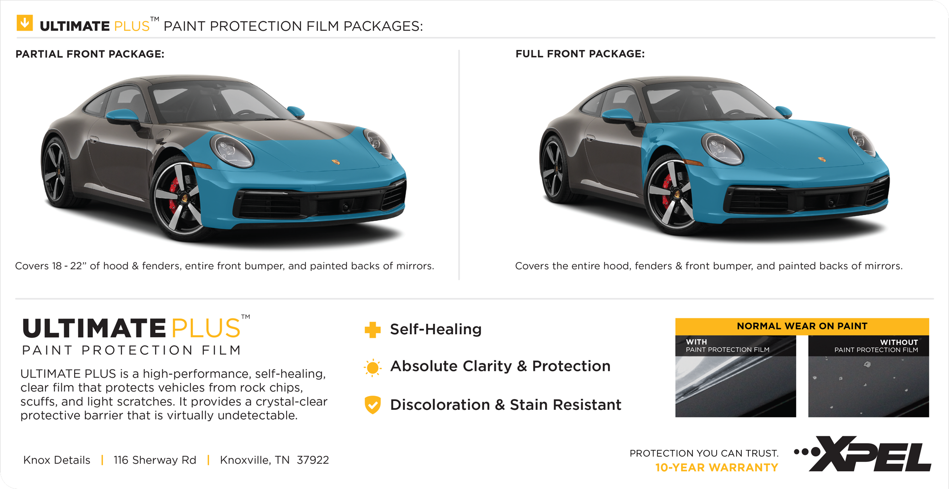 Xpel Ultimate Plus Paint Protection Film detail card